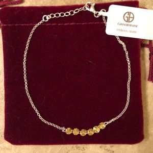 Gold colored sterling silver Giani Bernini anklet